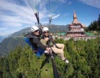 Tandem Paragliding above Interlaken