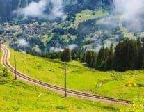 High view of Jungfrau Region
