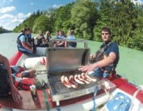 Barbecue in Float Boat Interlaken