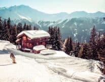 Beautiful House in winter of Switzerland