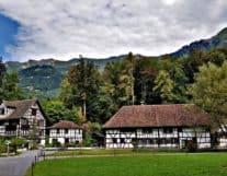 Houses in Ballenberg Switzerland