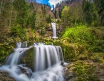 Waterfall near Interlaken