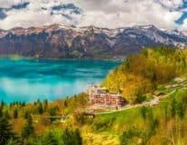 View of Beatenberg Switzerland