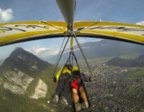 Hang Gliding with beautiful view over Interlaken
