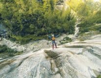 Girl canyoning in Grimsel