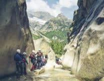 Canyoning tour in Grimsel Switzerland