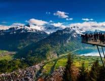 View over Harder Kulm in Switzerland