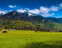 Beautiful view of Ballenberg Switzerland
