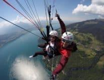Paragliding over Interlaken Lake