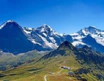 Beuatiful view of Jungfrau Region in Switzerland