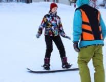 First steps snowboard lesson in Switzerland