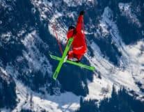 Guy skiing in Interlaken