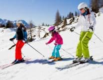 Family ski Lesson Jugfrau Region Switzerland